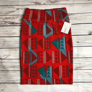 NWT Lularoe Small Cassie skirt Christmas Colors